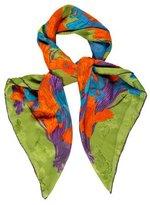Lanvin Floral Print Silk Scarf