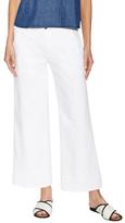 Cotton Cropped Wide Leg Jean