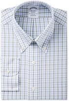 Brooks Brothers Men's Regent Classic-Fit Non-Iron Green Plaid Dress Shirt
