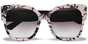 Gucci Square-frame Floral-print Acetate Sunglasses