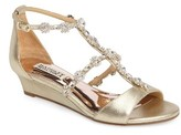 Badgley Mischka Women's Terry Ii Crystal Embellished Wedge Sandal
