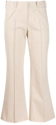 Jejia pipe-trim flared trousers