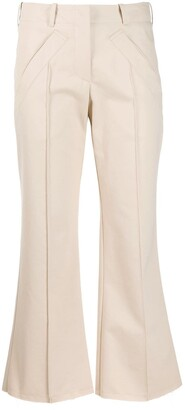 Jejia Pipe-Trim Flared Trousers
