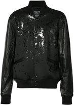 PRPS splattered bomber - men - Polyester/Polyurethane/Leather - L