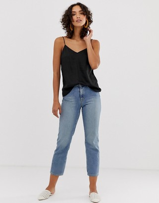 Selected straight leg jeans-Blue