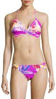 6 Shore Road Tropical Print Triangle Swim Top