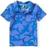 Joules Baby/Little Boys 12 Months-3T Sharks Short-Sleeve Jersey Polo Shirt