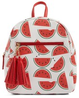 Girl's Deb & Dave Accessories Watermelon Print Mini Backpack - White