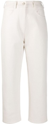 Beaufille High-Rise Cropped Trousers