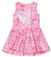 Lelli Kelly Kids Pink Floral Print Dress with Sequin Heart