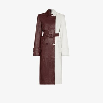 REMAIN Pirello double-breasted leather trench coat