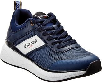 Roberto Cavalli Robert Cavalli Sport Leather-Trim Sneaker