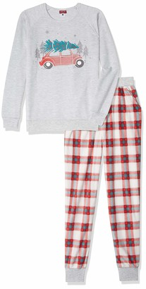 Petit Lem Holiday Adult Unisex 2-Pc Pajama Set Comfy Cute and Cozy