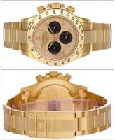 excellent (EX) Rolex Cosmograph Daytona 18k Yellow Gold Men's Watch 116528