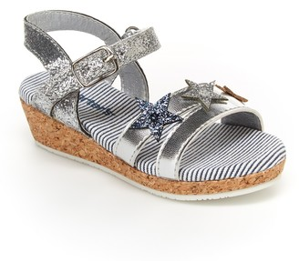 Carter's Nabila Glitter Stars Wedge Sandal (Toddler)
