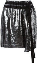No.21 sequin tie skirt - women - Silk/Polyester - 40