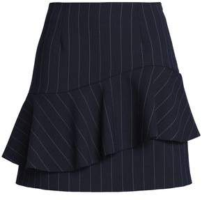 Claudie Pierlot Layered Striped Twill Mini Skirt