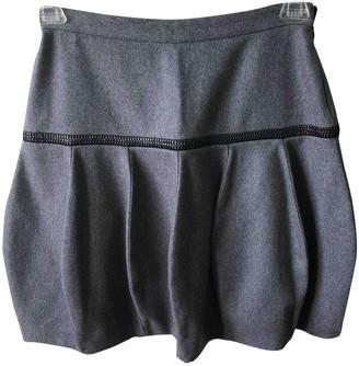 Bally Grey Wool Skirt for Women
