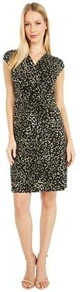 Tommy Bahama Wild One Short Sleeve Dress (Black) Women's Clothing