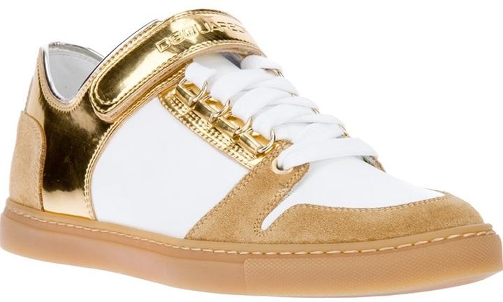 DSquared DSQUARED2 metallic strap sneaker