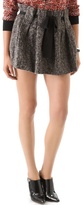 Thakoon addition Boiled Tweed Belted Ruffle Miniskirt