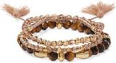 Chan Luu Set of three beaded bracelets