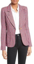 Smythe Women's Duchess Plaid Linen Blazer