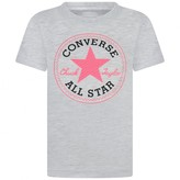 Converse ConverseGirls Grey Logo Print Top