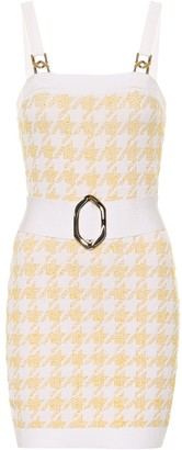 Balmain Exclusive to Mytheresa Houndstooth jacquard bodycon minidress