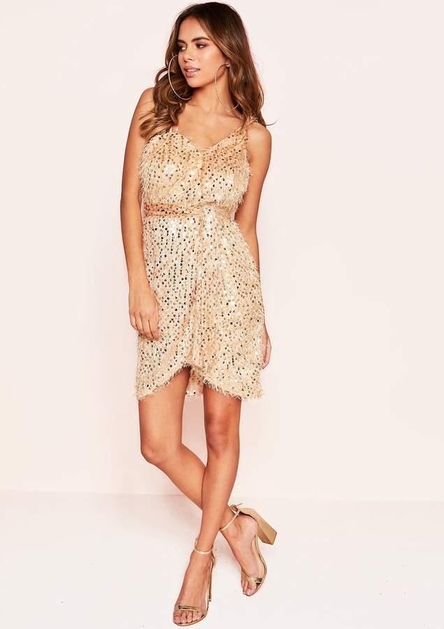 e6d4db4007e Strappy Gold Sequin Dress - ShopStyle UK