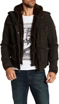 Rogue Military Faux Fur Lined Cotton Jacket