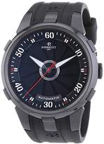 Perrelet Turbine XL Men's Automatic Watch with Black Dial Analogue Display and Black Rubber Strap 1051/1