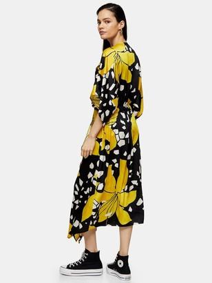 Topshop Boutique Lily Drawstring Midi Dress - Multi