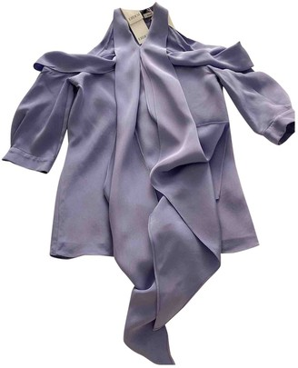Erdem Purple Silk Top for Women
