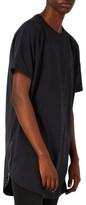Topman Men's Longline T-Shirt With Side Zips
