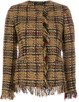 Tagliatore embroidered fringed blazer