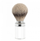 Mühle Silver Tip Badger Shave Brush - White Resin and Chrome (091M107)
