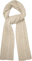 Raey Cable-knit wool scarf