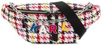Karl Lagerfeld Paris K/Studio tweed belt bag