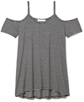 Two by Vince Camuto Striped Cold-shoulder Tee