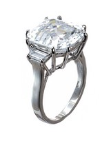 Kenneth Jay Lane Asscher Cut Prong Ring