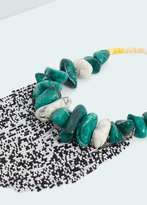 Mango Outlet Bead stone necklace