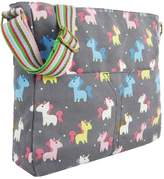 Kukubird Adorable Unicorn Crossbody Design Tote Top-Handle Shoulder Bag Handbag -Grey