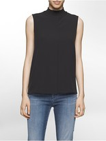 Calvin Klein Ribbed Mockneck Sleeveless Top