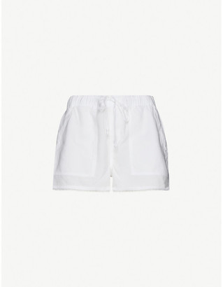 Bella Dahl Frayed mid-rise woven shorts