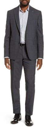 Ted Baker Jay Trim Fit Plaid Wool Suit