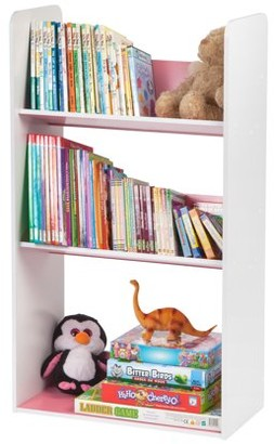 IRIS USA 3-Tier Tilted Kids Bookshelf, Pink or Blue