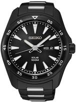 Seiko Men&s Black Solar Watch
