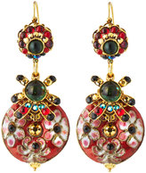 Jose & Maria Barrera Mixed Cliosonné Disc Drop Earrings
