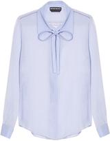Rochas Neck-tie silk-crépe blouse